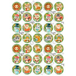"""Картинки для шоколада/леденцов """"Новый год 2022_Календарь"""" № 07"""