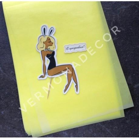 Желтая вафельная бумага, штучно