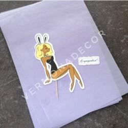 Фиолетовая бумага, упаковка