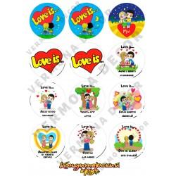 """Съедобная картинка """"Love is..."""""""
