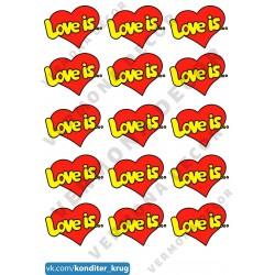 """Съедобная картинка """"Love is"""" 2"""