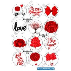 """Съедобная картинка """"Любовь..."""" 2"""